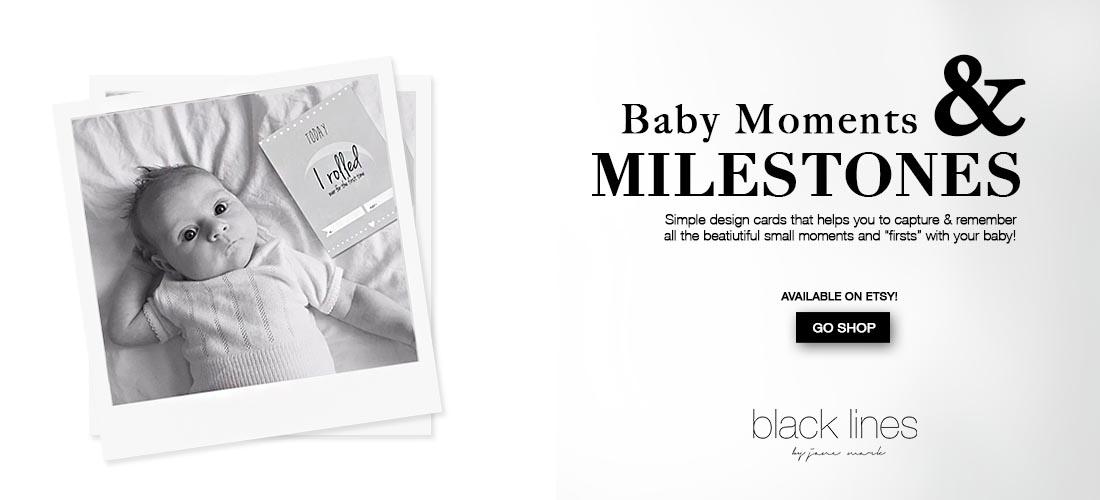 blacklines byJaneMark_banner babymilestones etsy